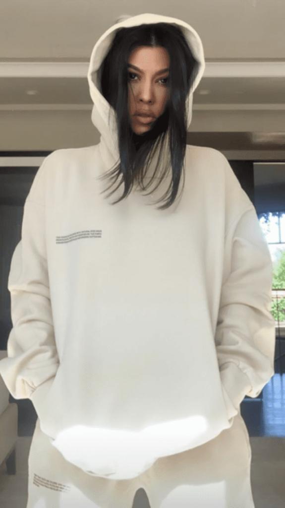 Kourtney Kardashian wearing PANGAIA